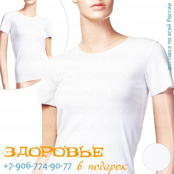 Белая женская футболка из хлопка